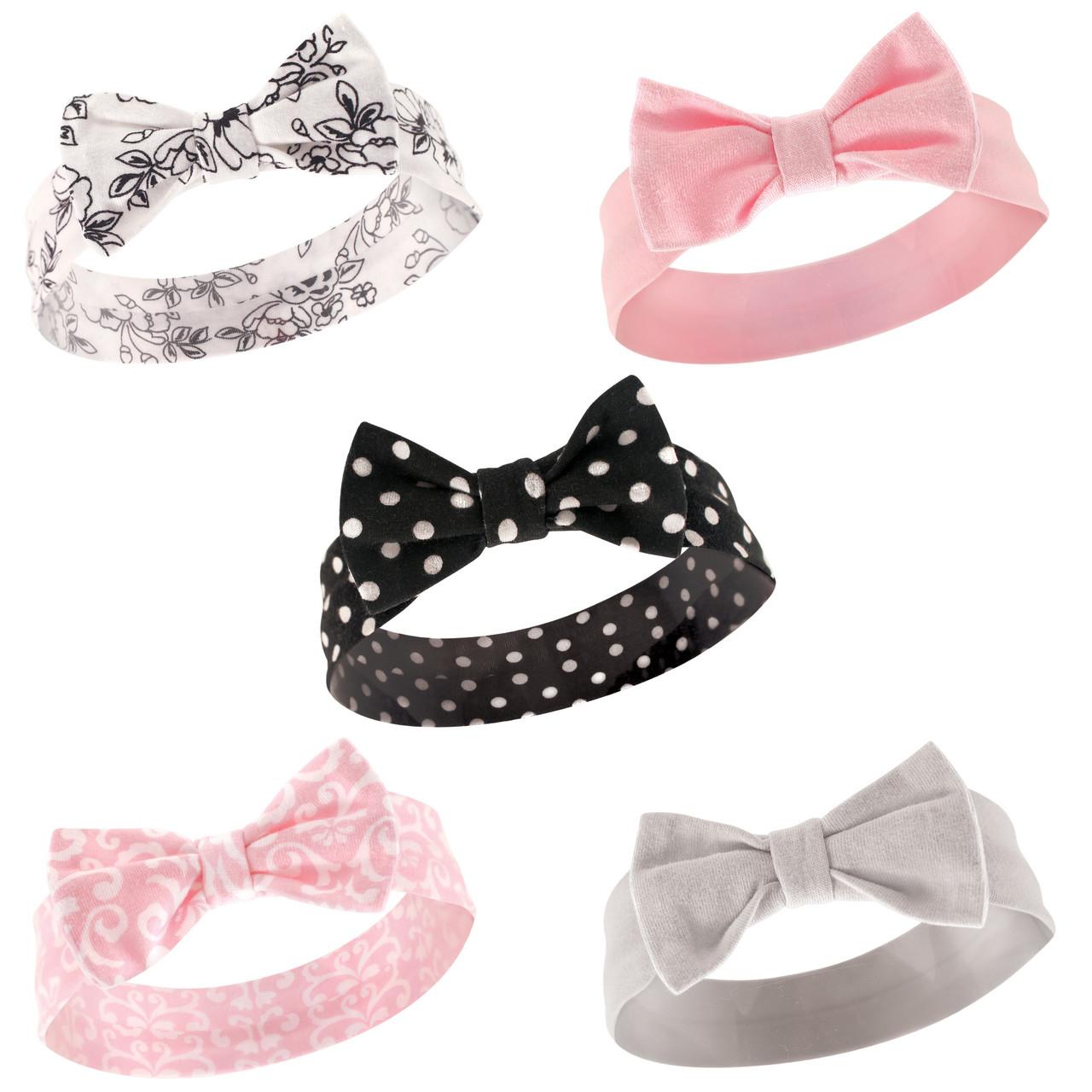 5-Pack Gold Dot Hudson Baby Girl Headbands