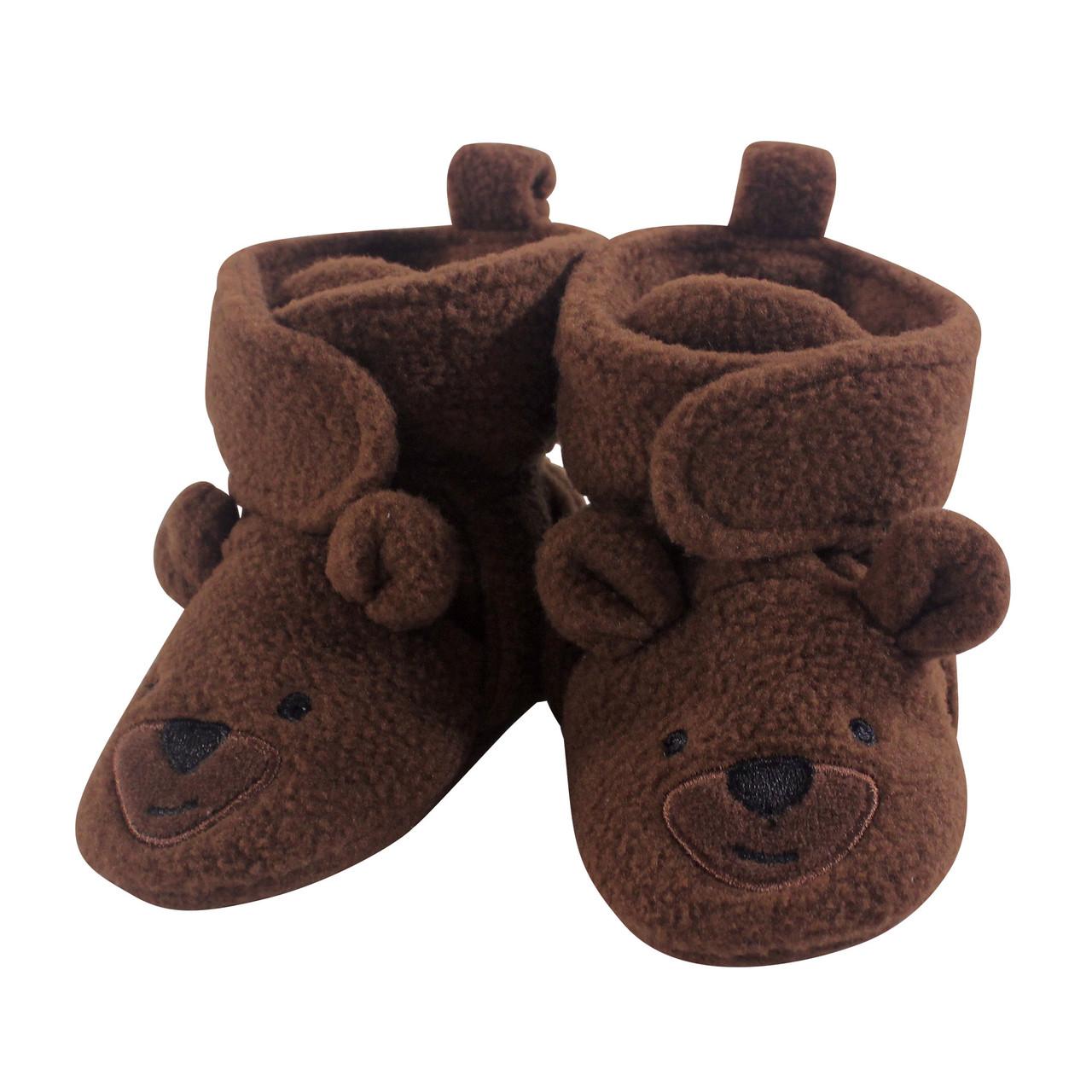Hudson Baby Girl Holiday Fleece Booties Girl Reindeer