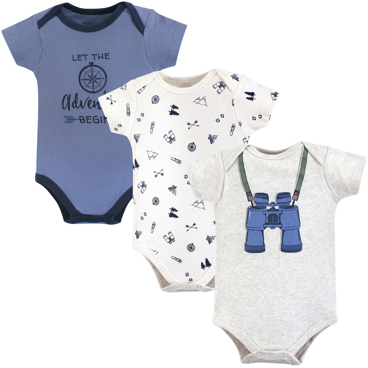 Gentleman 3-Pack Little Treasure Cotton Bodysuits