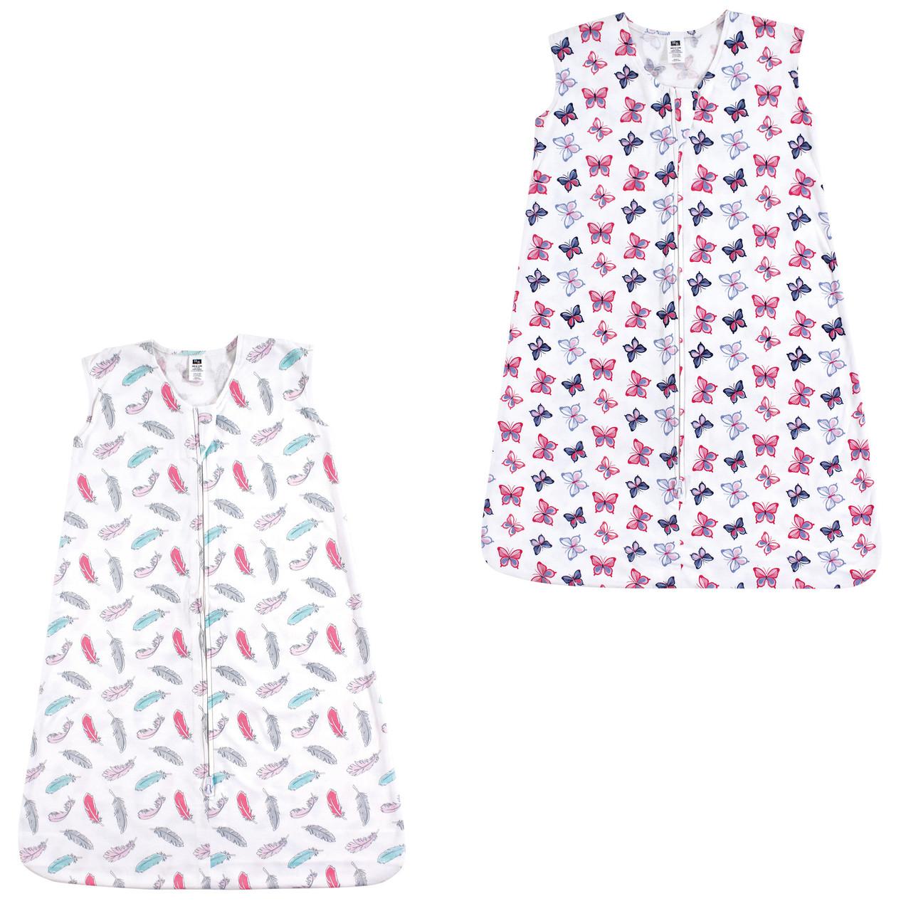 Hudson Baby Boy and Girl Safe Sleep Wearable Jersey Sleeping Bag//Blanket Midnig
