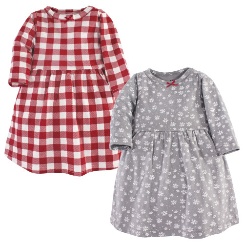 Hudson Baby Girl Toddler Long Sleeve Dress 2pk Apple