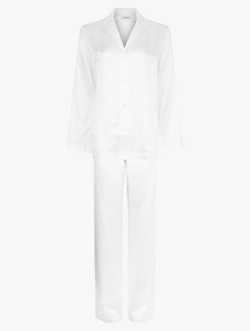 White silk pyjama set