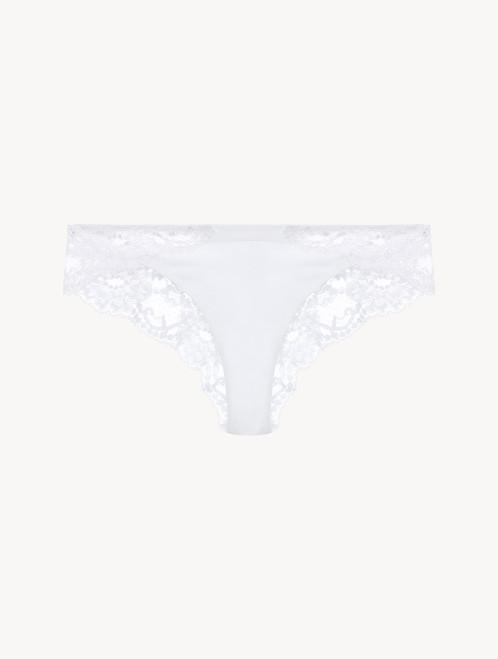 White cotton brazilian briefs