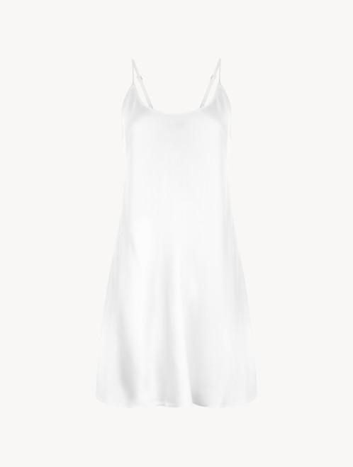 White silk short slip