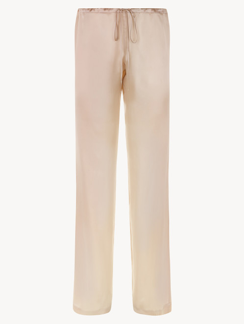 Pink silk trousers