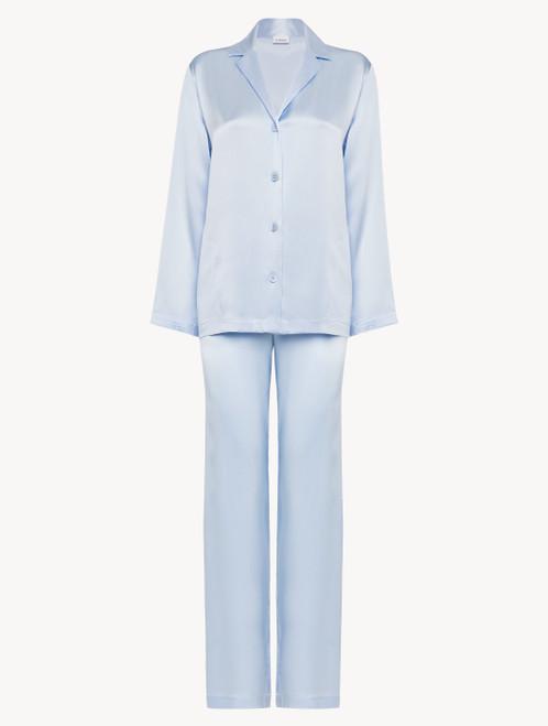 Azure silk pyjama set
