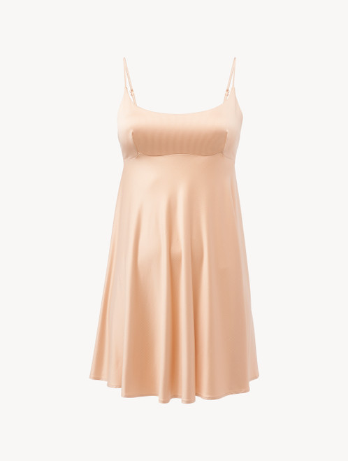 Slip Dress in beige stretch viscose