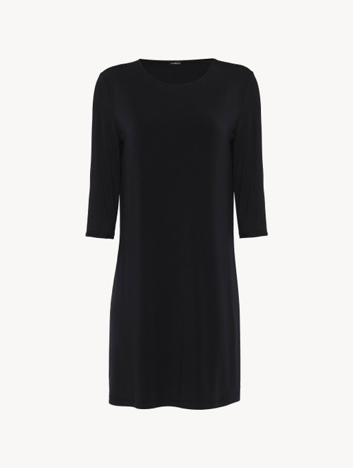 Nightgown in black modal silk jersey