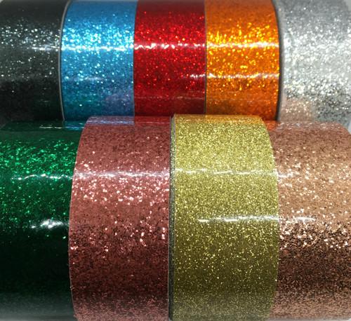 Glitter And Prism Coil Tape (price per foot)