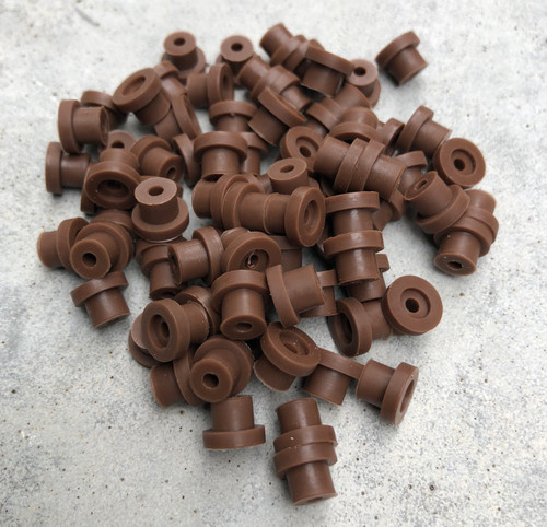 Silicone Grommets - Chocolate Brown