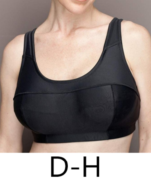 Elila 1620 Softcup Microfiber and Silver Sports Bra