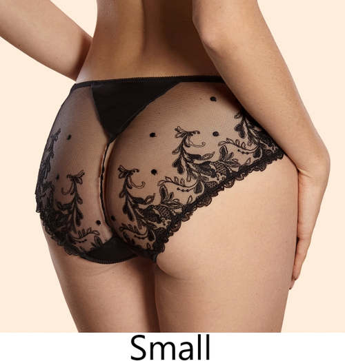Ajour T8 Andromeda Lace Back Panty Black FINAL SALE NORMALLY $60