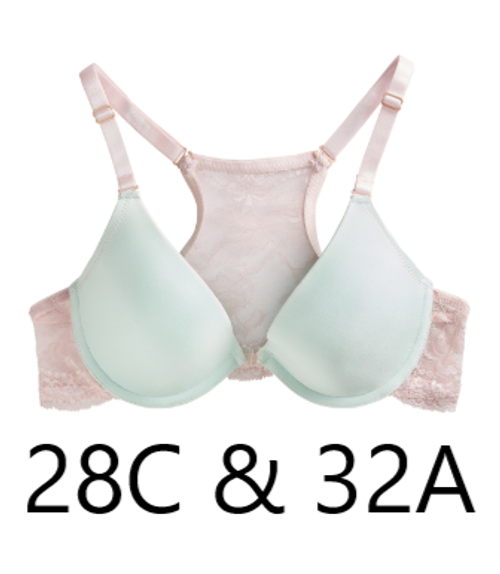 The Little Bra Company N003 Alana Deep Plunge Front Closure Bra SALE NORMALLY $60