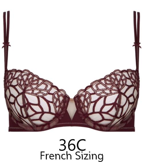 Simone Perele 12G330 Java Demi Bra Henna SALE NORMALLY $110