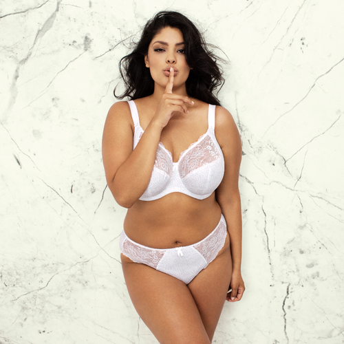 Elomi 4110 Morgan Underwire Banded Full Cup Bra White (WHE)