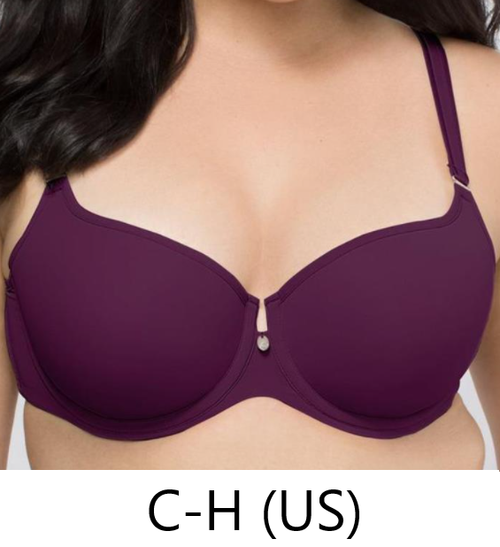 Curvy Couture 1274 Tulip Smooth Push Up Balconnette Aubergine