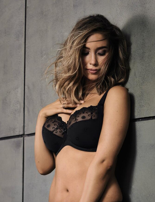 Rosa Faia 5607 Edelweiss Underwired Bra Black FINAL SALE NORMALLY $82