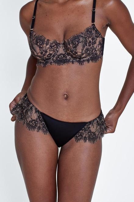 Skarlett Blue 373143 Entice Bikini Panty Black/Nylon