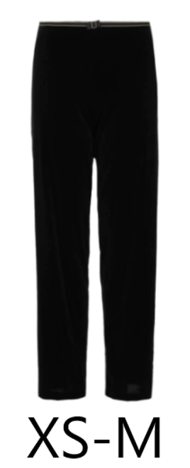 Luxurious black velvet lounge trousers by Empreinte