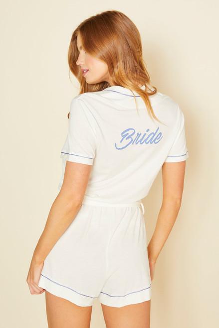Cosabella 2241 Bella Bride Sleep Romper Moon Ivory/Coastal Blue FINAL SALE NORMALLY $117.50