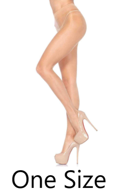 Leg Avenue 0907 Spandex Sheer to Waist Support Pantyhose Honey Beige