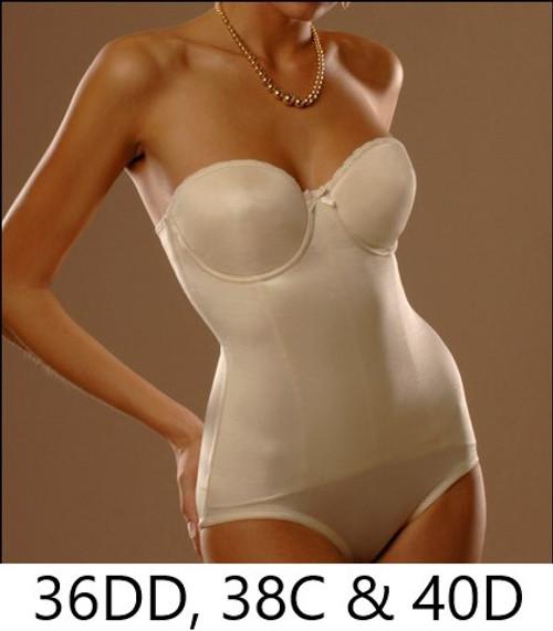 Va Bien 516 Seamless Molded Strapless Bodysuit Pearl