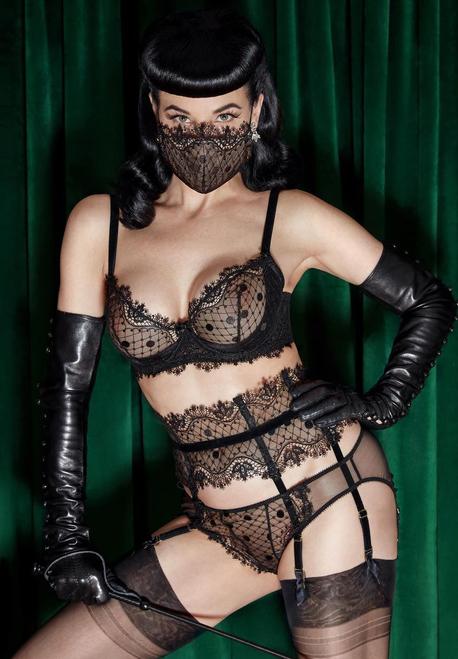 Dita von Teese D22024 Vedette Bikini Panty Black