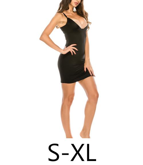 Youmita 70243 No Show Lines Shapewear Slip Black
