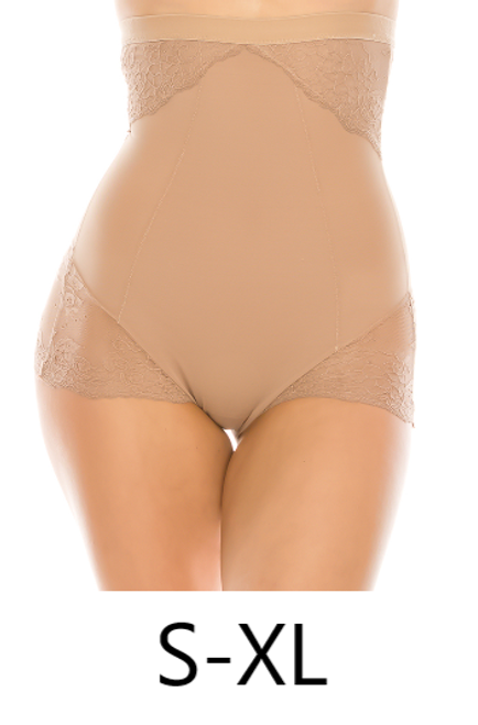 Youmita 50270 Mesh With Floral Lace Shapewear Beige