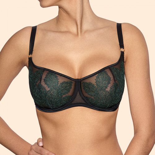 Ajour BM7 Oliver Soft Bra with Underwire Black and Emerald