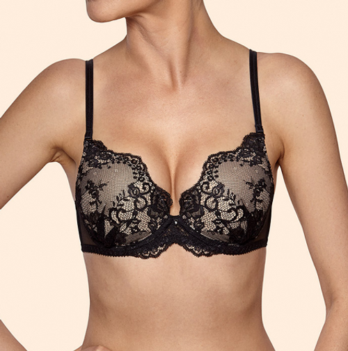 Ajour BP62 Keira Padded Push Up Bra Black