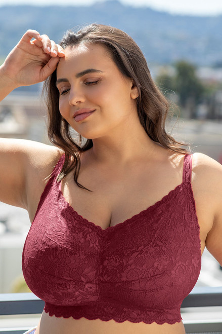Cosabella NEVER1321 Never Say Never Ultra Curvy Sweetie Bralette Vino
