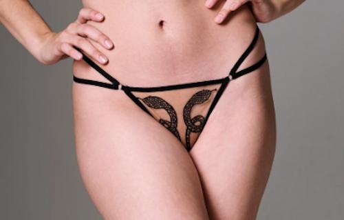 Thistle & Spire Medusa Thong Black/Butterscotch
