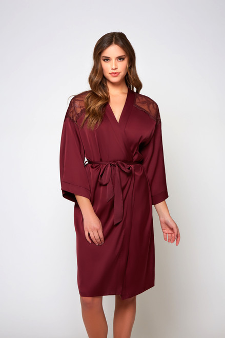 iCollection 78048 Burgundy Forest Robe