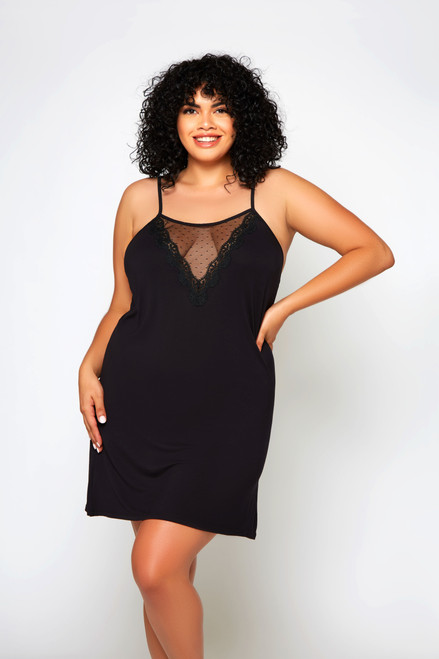 iCollection 78121 Molly Chemise Black