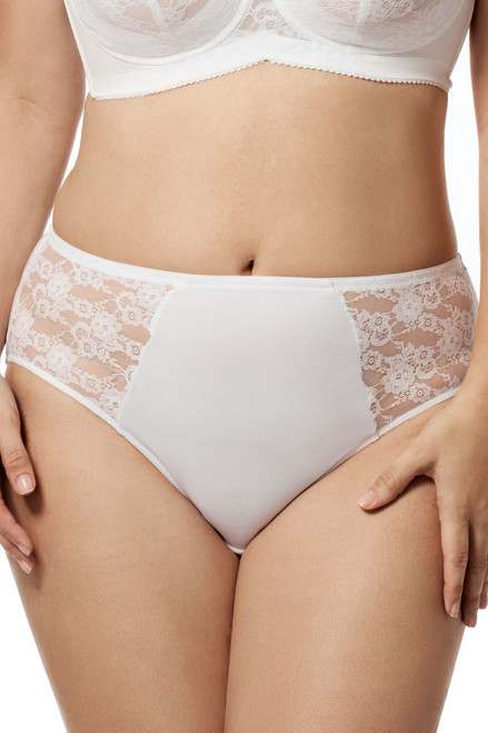 Elila 3503 Lace & Microfiber Panty White