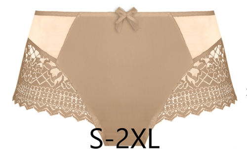 Luxury gold full coverage lace matching panty by Empreinte