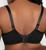 Curvy Couture 1310 Sheer Mesh Plunge T-Shirt Bra Black