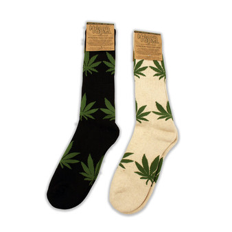 Hemp Leaf Long Hemp Socks