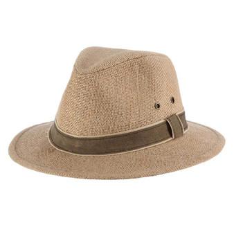 "Hemp Safari Hat with 2 1/4"" Brim"