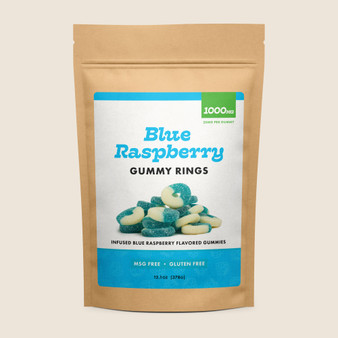 Gummy Rings - Blue Raspberry - 1000mg