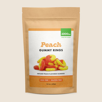 Gummy Rings - Peach - 1000mg