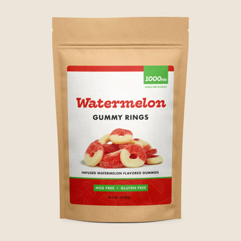 Gummy Rings - Watermelon - 1000mg