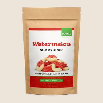 Gummy Rings - Watermelon - 1000mg