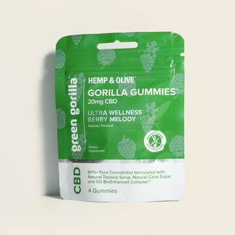 Hemp & Olive™ – CBD Gorilla Gummies Travel Size - 20mg