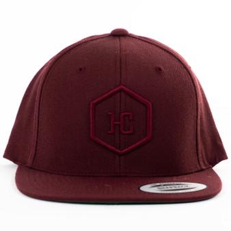Hat - Maroon/Maroon
