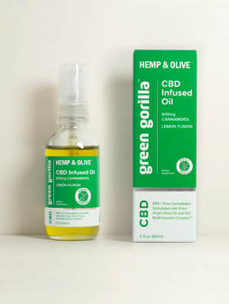 Hemp & Olive™ - Pure CBD Oil 600mg 2fl oz - Lemon