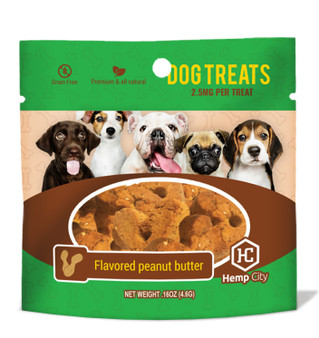 Dog Treat Peanut Butter Single 2.5mg