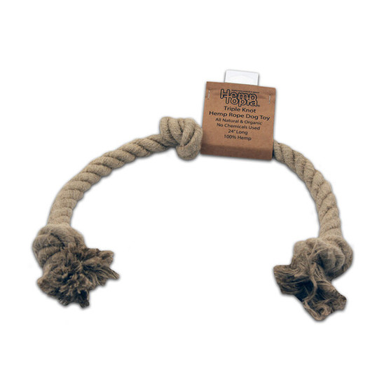 "24"" Large Hemp Rope Dog Toy"