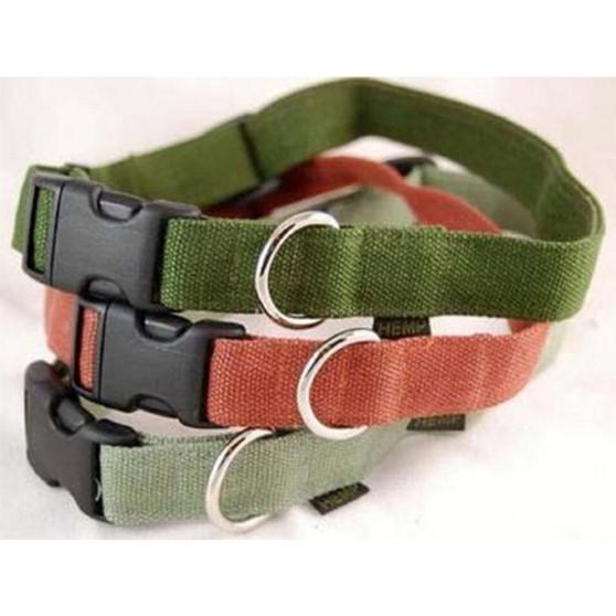 "Large Hemp Dog Collars - 1"""